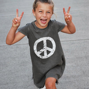 Willow Keep The Peace Dress Stonewash Grey Dresses + Skirts Staple australia kids