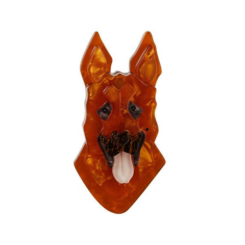 Erstwilder Dog Brooch - Abbey Alsation - German Shepherd