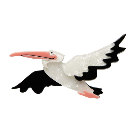 NEW Erstwilder Legendary Long-Bill Brooch - Pelican