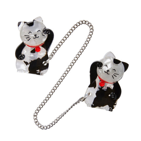 Erstwilder Cat Double Brooch - Noble Neko - NEW 2017