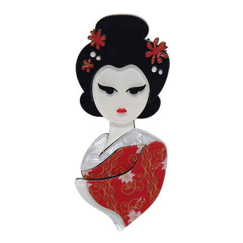 Erstwilder Japanese Brooch - Mysterious Maiko - NEW 2017