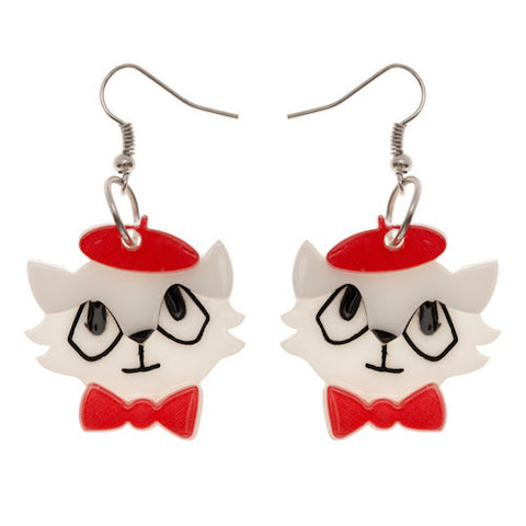 Erstwilder Earrings - Farrah the French Kitty - LAST ONES!