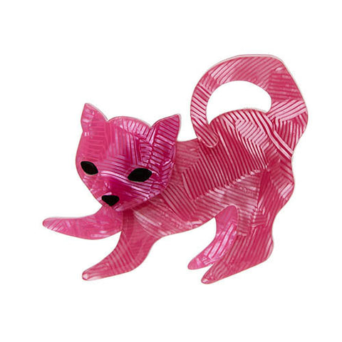 Erstwilder Cat Brooch - Senpai the Sensitive - Pink