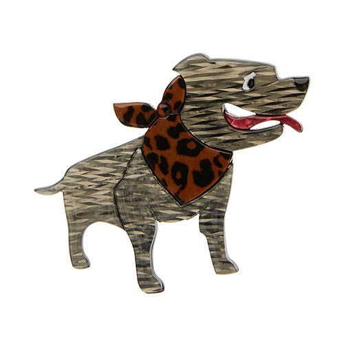Erstwilder Dog Brooch - Staffy Stan