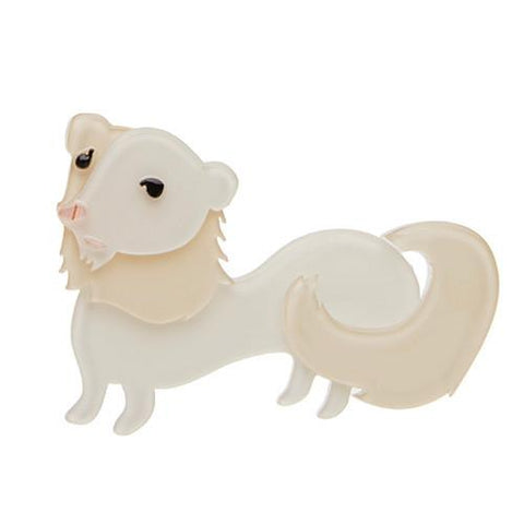 Erstwilder Animal Brooch - Sunny Smiles- The Ferret