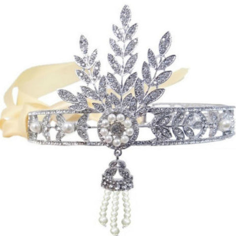 Art Deco Headpiece - Gatsby Style - Pearls and Rhinestones