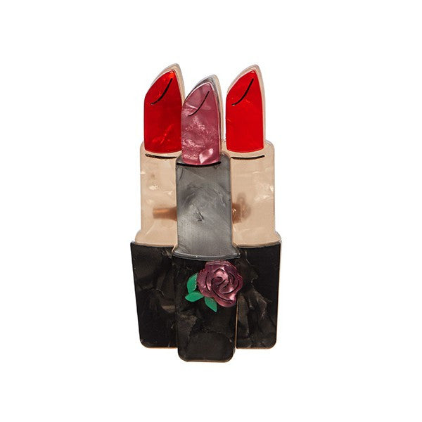 Erstwilder Lipstick Brooch - Lip Service - Beauty School