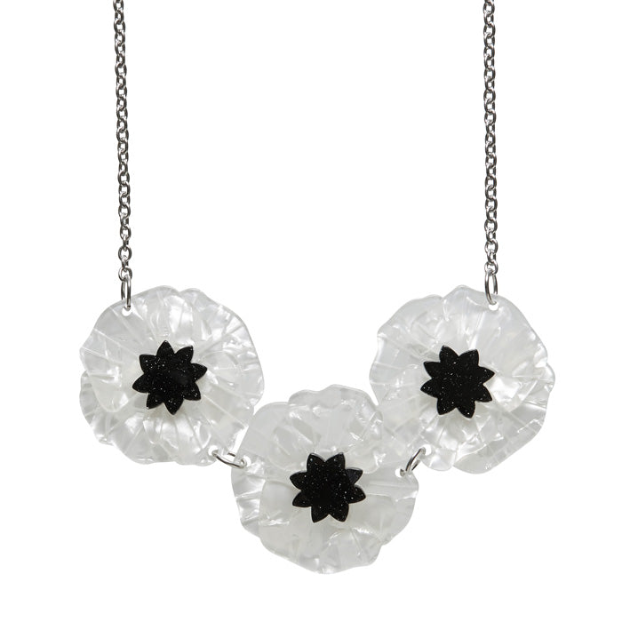 Erstwilder Poppy Field Necklace - White