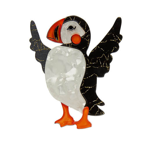 Erstwilder Puffin Brooch - Ollie the Brave