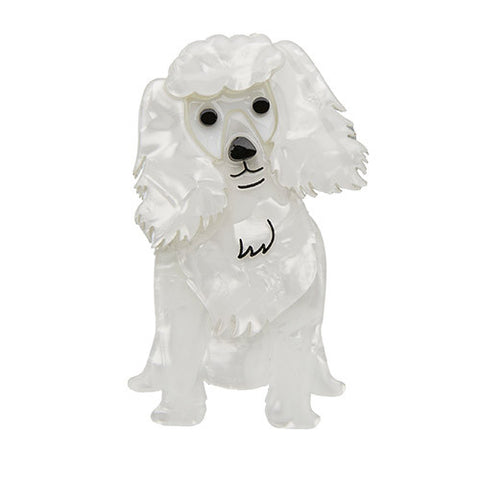 Erstwilder Dog Brooch - Oodles the Poodle - In White