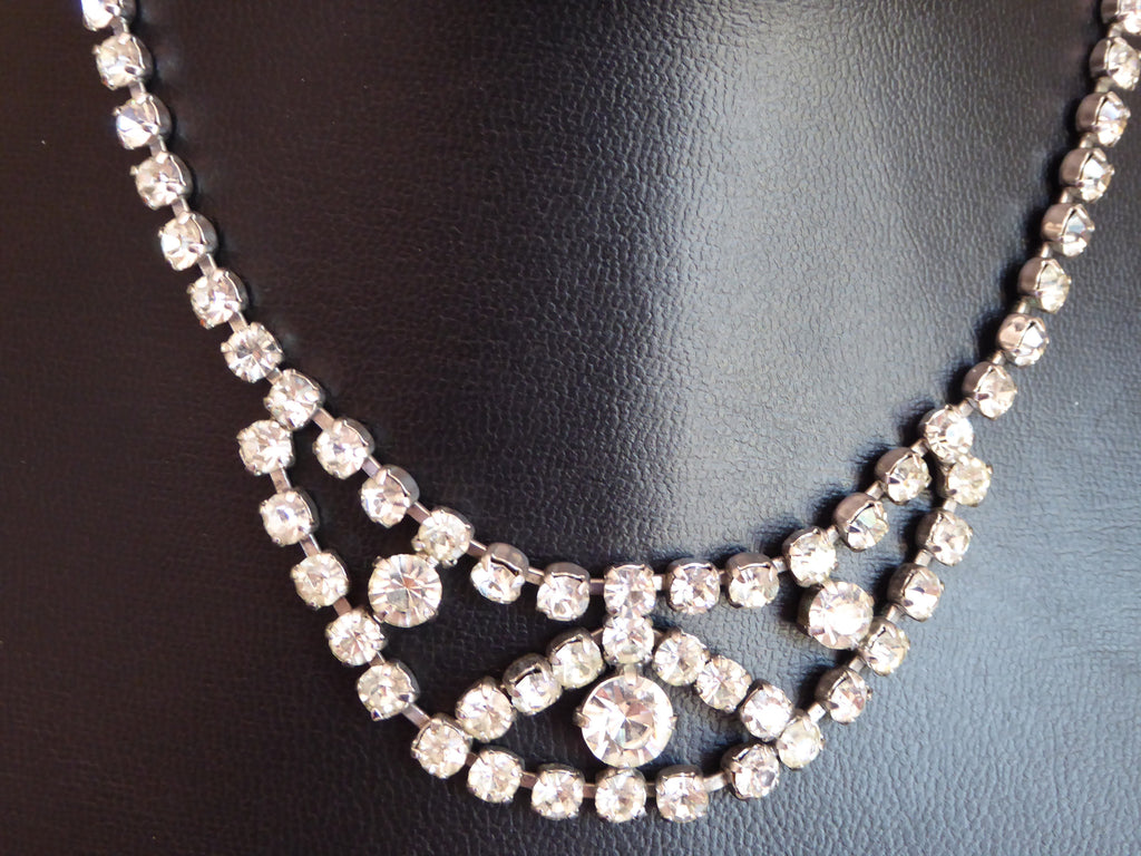 Art Deco Rhinestone Necklace