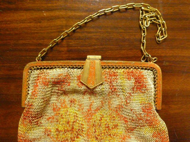 Pretty Little Art Deco Mesh Purse, Excellent Condition, Free Shipping Worldwide