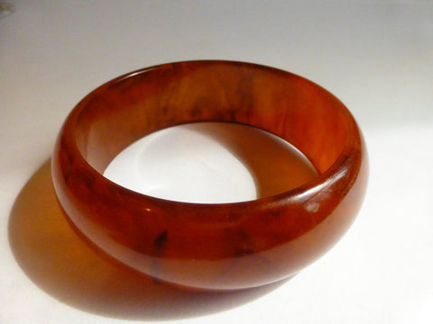"Bakelite Root Beer, Ice Tea Bangle, 1"",  1930s,  Simichrome Tested +"