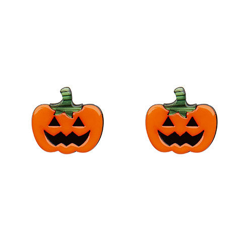 Erstwilder Halloween Earrings - Jack O'Lanterns - Carved Pumpkins