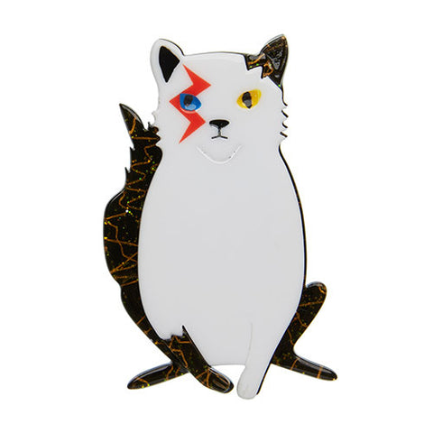 Erstwilder Cat Brooch - Rebel Rebel - In Memory of David Bowie
