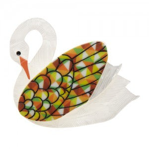 Erstwilder Bird Brooch - Sabine the Swan