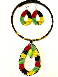 Traditional African Necklace/Earring Set