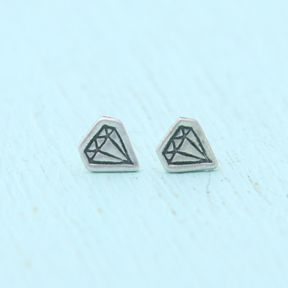 Tiny Diamond Earrings
