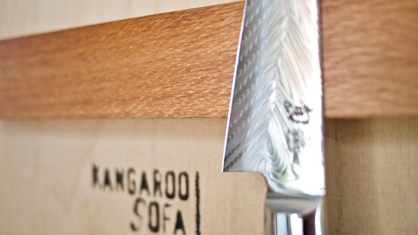 Magnetic knife rack, Qld Silky Oak, 30cm
