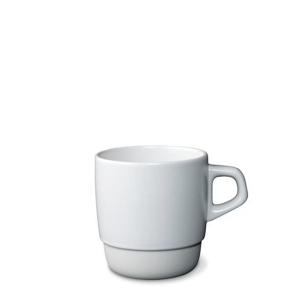 Mug, stacking, white