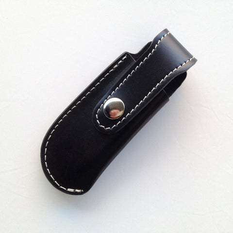 Tawonga pouch, black leather