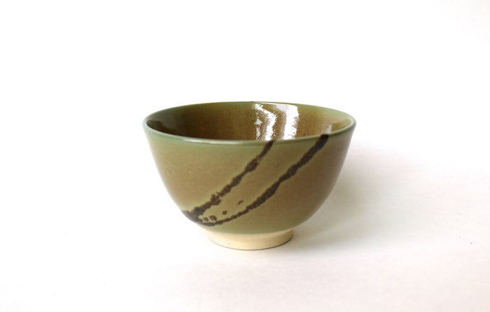 Matcha Bowl Kyo (Yellow and Brown / Houhuyu style)