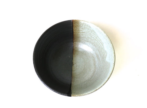 Matcha Bowl Arita (Black and white / Kakebuntan style)