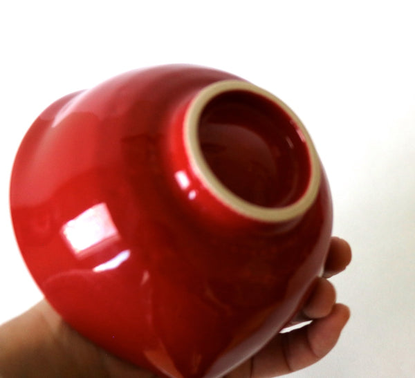 Matcha Bowl Inome style - Otohime (Red with gloss finish)