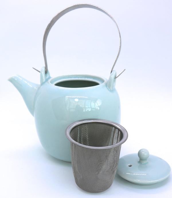 Dobin Teapot with Teacups Mino - Seiji (500 mL)