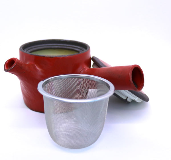 "Hand-crafted Tebineri (""hand-building"") Teapot with Teacups - Mino (310 mL)"