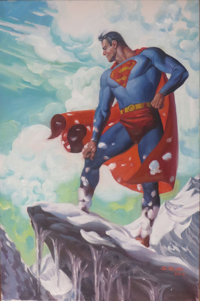 Superman on Mountains Demo Painting Coko Con
