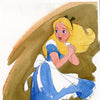Alice in Wonderland Watercolor Painting
