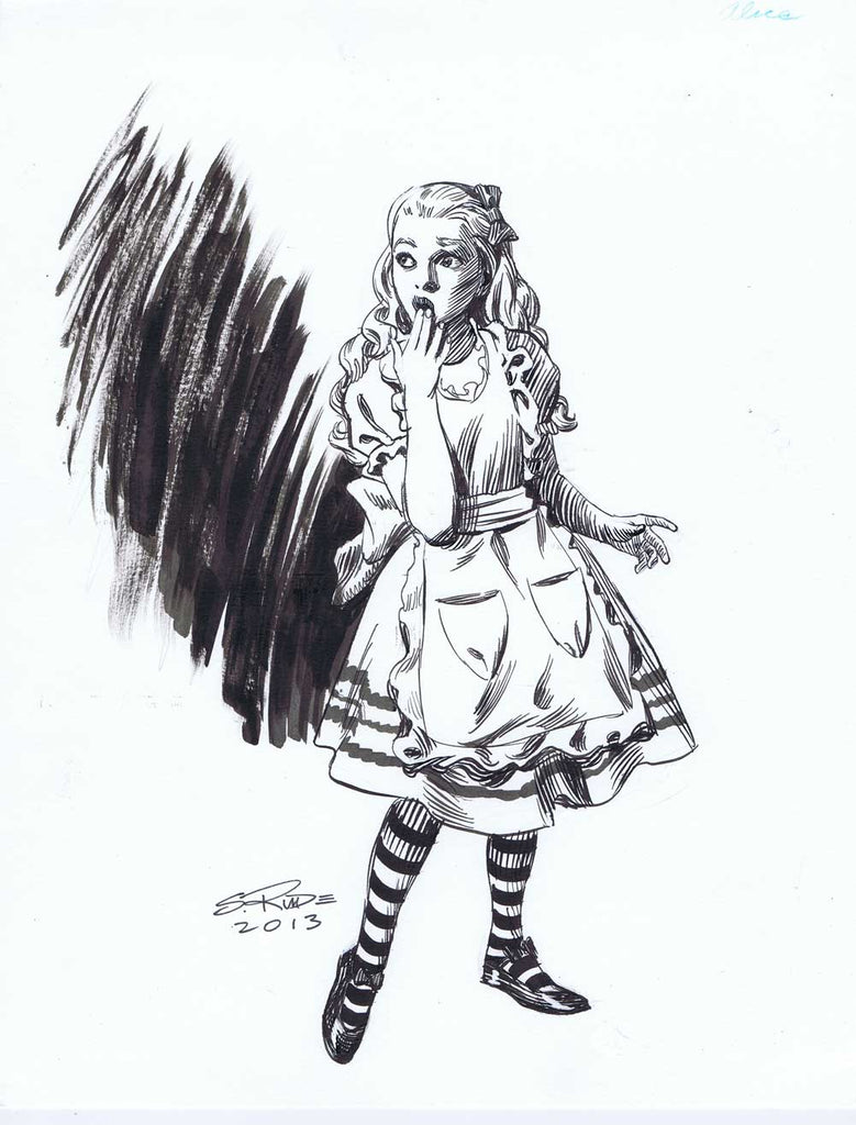 Alice in Wonderland Pen and Ink