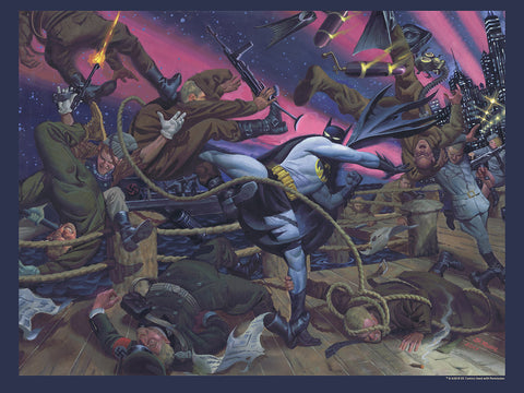"Batman / World War II LE 18 x 24"" Poster on Cardstock"