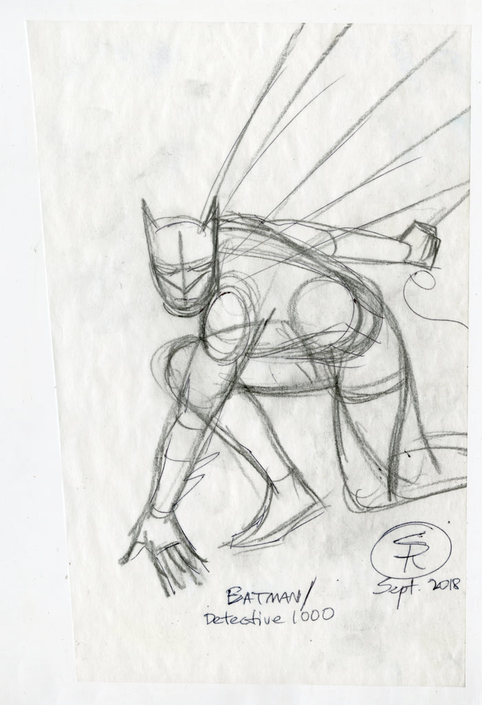 Batman Detective 1000 Cover Tracing Paper Rough