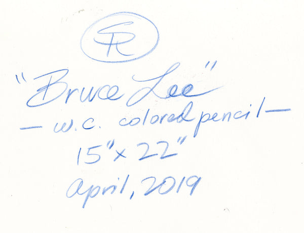 Bruce Lee Watercolor/Colored Pencil April 2019 Study