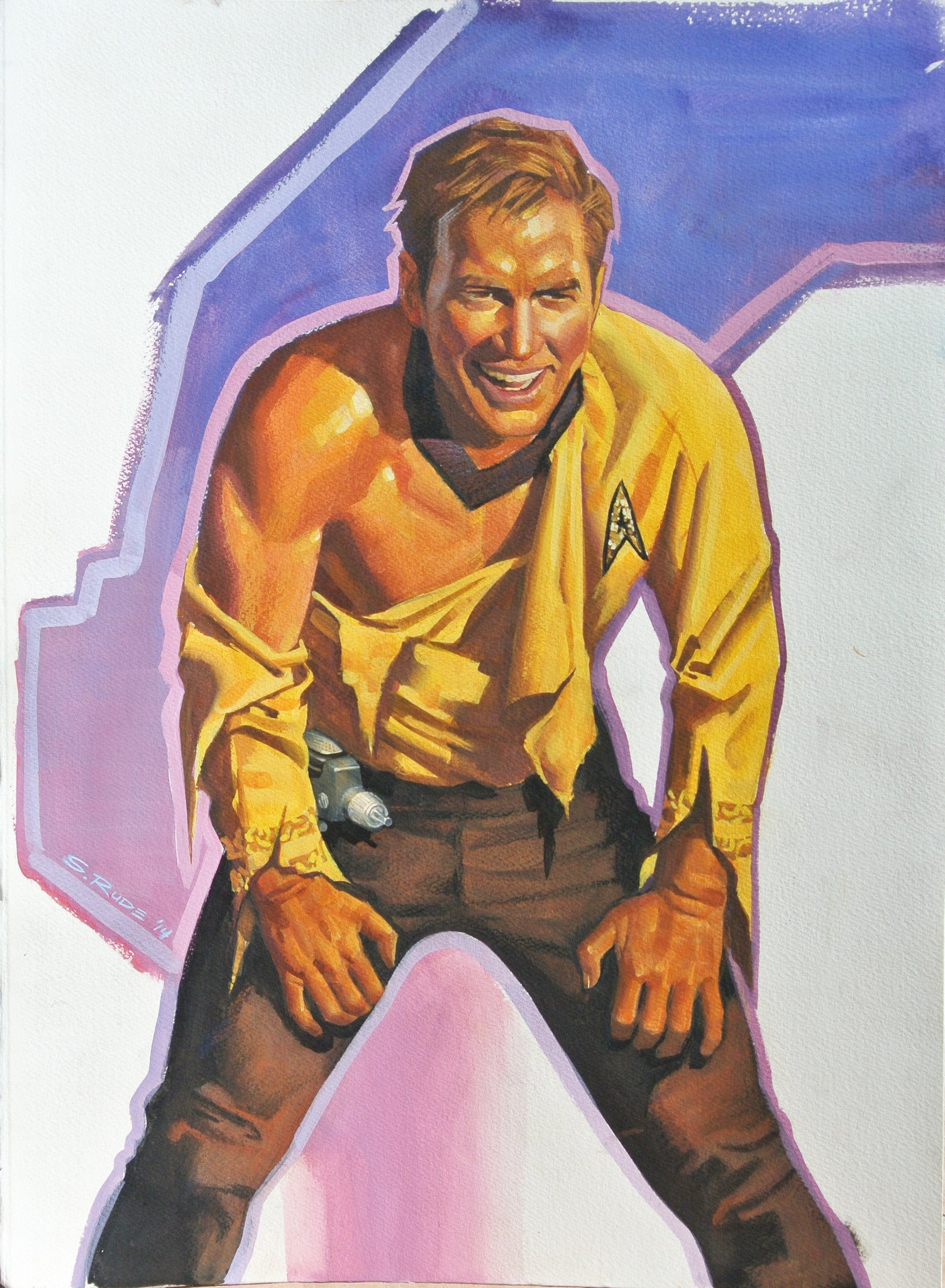 Captain Kirk Star Trek Watercolor