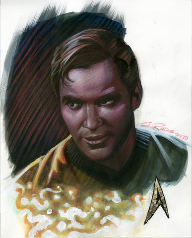 Captain Kirk Watercolor Painting