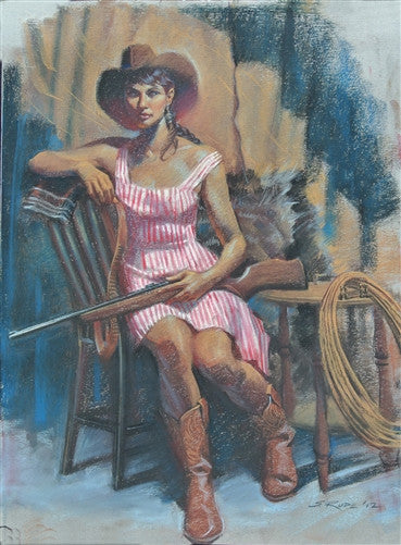 """Cowgirl"" Pastel Original Painting"
