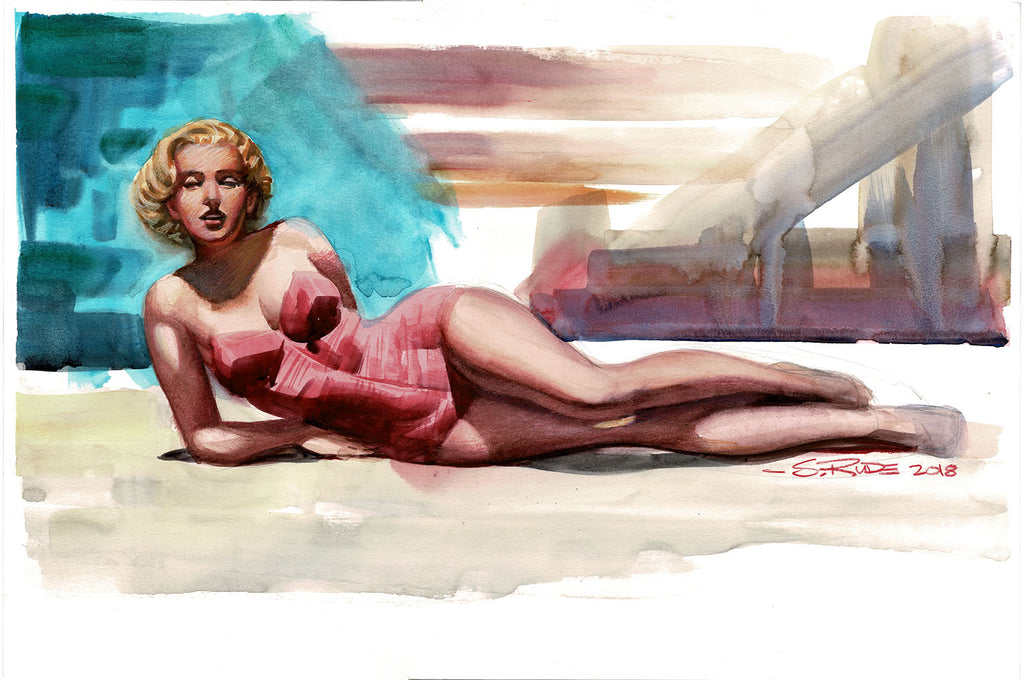 Marilyn Monroe Study Daily Sketch