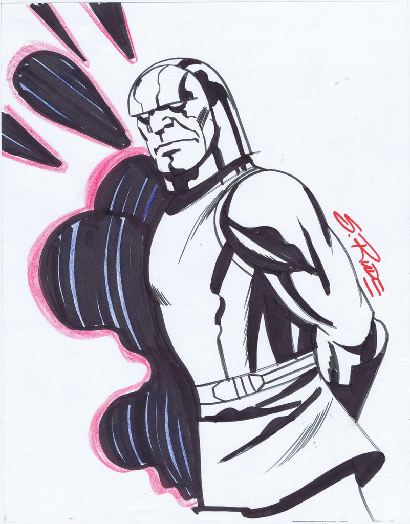 """Darkseid"" Copic Marker Sketch with Prismacolor Pencil"