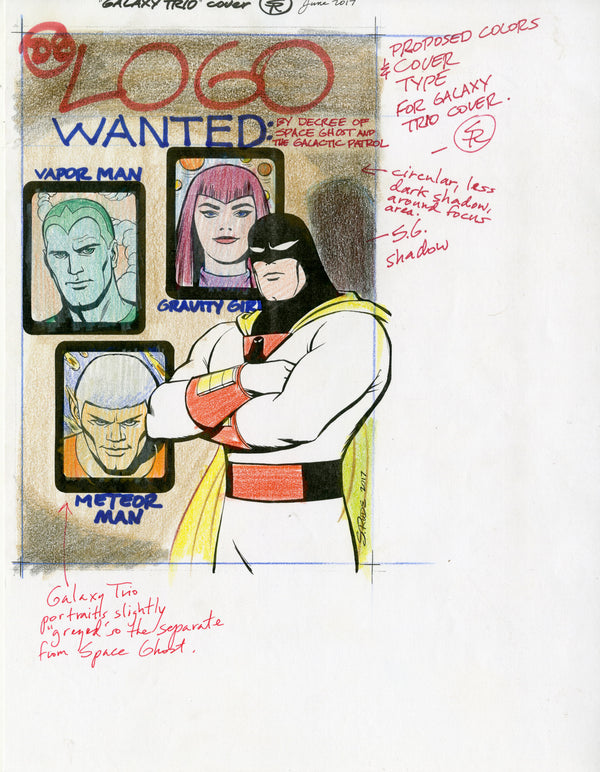 Space Ghost Galaxy Trio Cover Color Rough