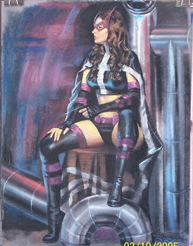 """Huntress"" Pastel Original Painting"