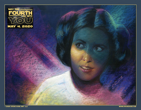 "Princess Leia ""May the Fourth"" 2020 Print"