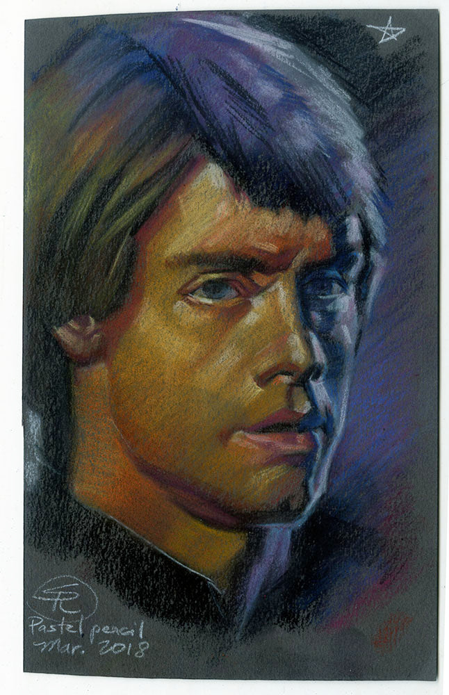 Luke Skywalker Star Wars Pastel Study 2018