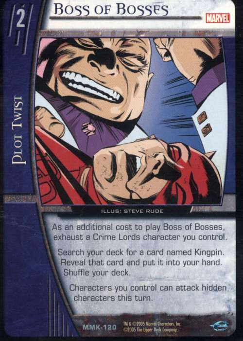 Boss of Bosses Trading Card