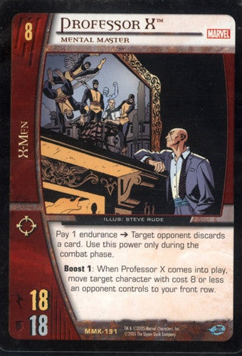 Professor X Mental Master Trading Card