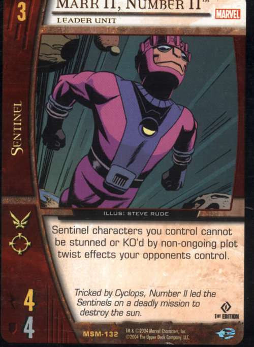 Mark II, Number II Leader Unit Trading Card
