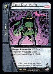 Time Platform Holographic Trading Card