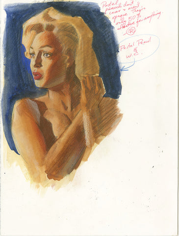 Marilyn Monroe Painted Study
